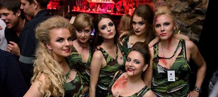 Karo zona virtusiame naktiniame klube aistras kaitino apsinuoginusios merginos