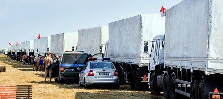 """ES: Rusijos """"humanitarinės pagalbos konvojus"""" pažeidė Ukrainos suverenitetą"""