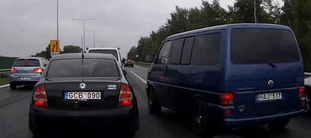 Dviprasmiška situacija: policija nori nubausti vairuotoją, bandžiusį tramdyti kelių erelius
