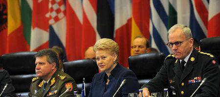 D.Grybauskaitė NATO karinius vadovus Vilniuje ragina veikti greitai