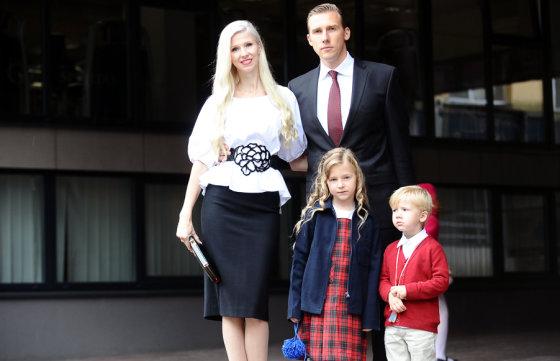 Luko Balandžio/Žmonės.lt nuotr./Inga ir Aivaras Stumbrai su vaikais