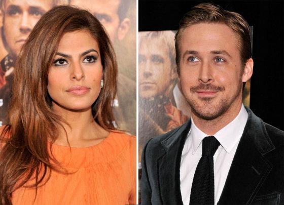 """""""Scanpix"""" nuotr./Eva Mendes ir Ryanas Goslingas"""