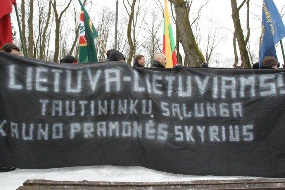 Eriko Ovčarenko/15min.lt nuotr./Nacionalistų renginiai yra gera medžiaga Kremliaus propagandai, pasakojančiai apie fašizmą Baltijos šalyse.