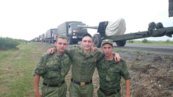 Socialinių tinklų nuotrauka/Rusijos kariai Ukrainoje