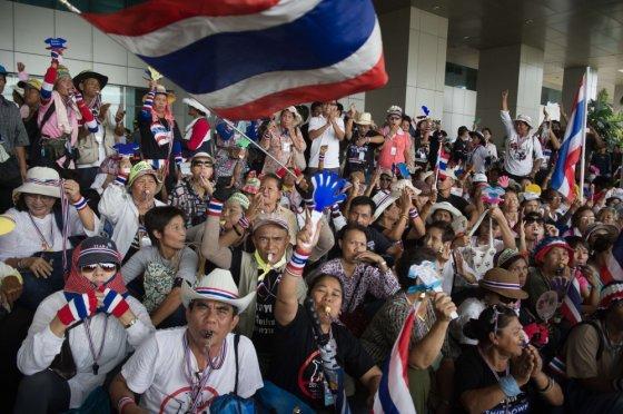 """AFP/""""Scanpix"""" nuotr./Protestas Tailande"""