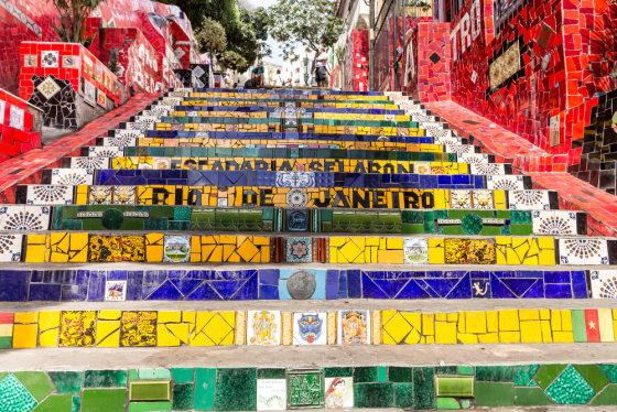 Fotolia nuotr./Viena žymiausių Rio de Žaneiro vietų – Escadaria Selaron
