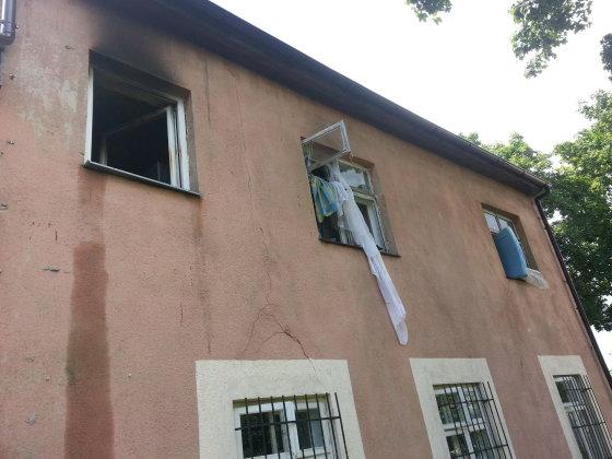Pagėgiuose degė butas
