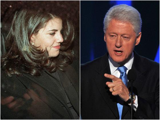 """""""Scanpix"""" nuotr./Monica Lewinsky ir Billas Clintonas."""