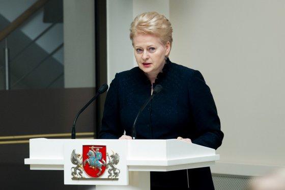BFL/Vyginto Skaraičio nuotr./Lietuvos prezidentė Dalia Grybauskaitė