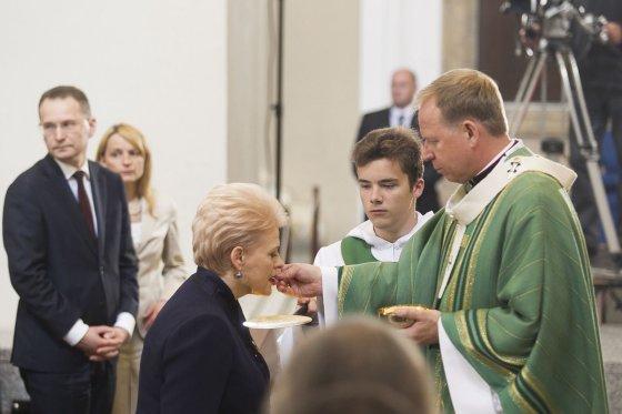 Irmanto Gelūno/15min.lt nuotr./Dalios Grybauskaitės inauguracijai skirtos iškilmingos šv. Mišios.