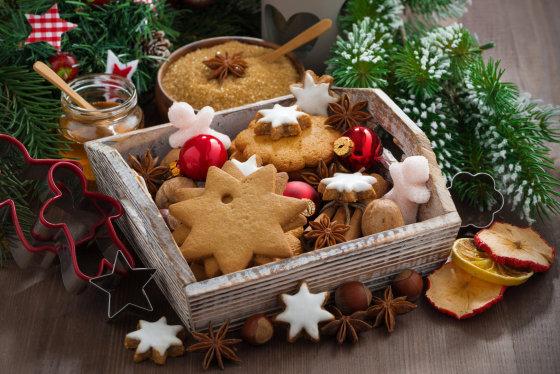 Fotolia nuotr./Kalėdiniai sausainiukai.