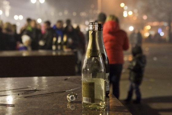 BFL/Butauto Barausko nuotr./Emocijos: kaip žmonės Vilniuje sutiko 2014-uosius