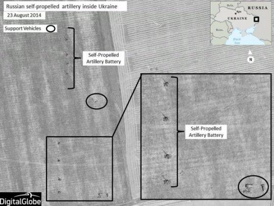 DIGITAL GLOBE nuotr. /NATO paskelbė duomenis apie Rusijos karių skaičių Ukrainoje.