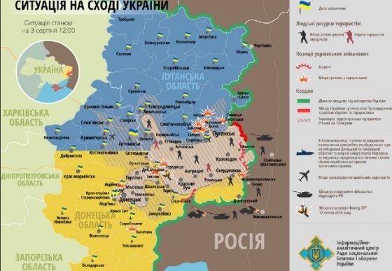 Rnbo.gov.ua nuotr./Naujausias žemėlapis