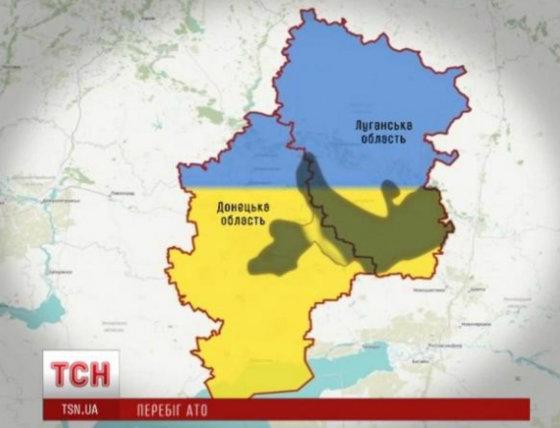 Stop kadras/Per antiteroristinę operaciją nuo teroristų išlaisvinama vis daugiau Donbaso teritorijos.