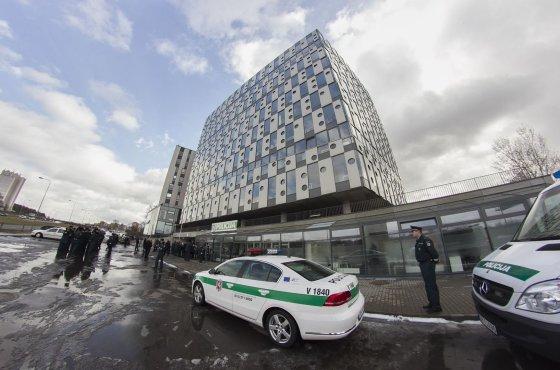 Irmanto Gelūno/15min.lt nuotr./Naujasis policijos pastatas šalia Pilaitės pr.