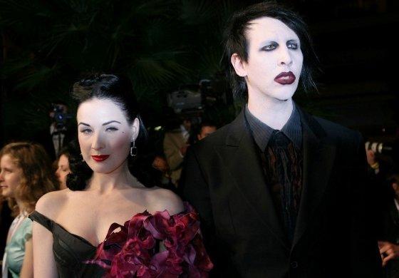 """""""Scanpix"""" nuotr./Marylinas Mansonas ir Dita Von Teese"""