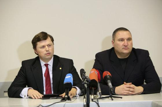 Eriko Ovčarenko/15min.lt nuotr./Darius Valkavičius ir Darius Žukauskas