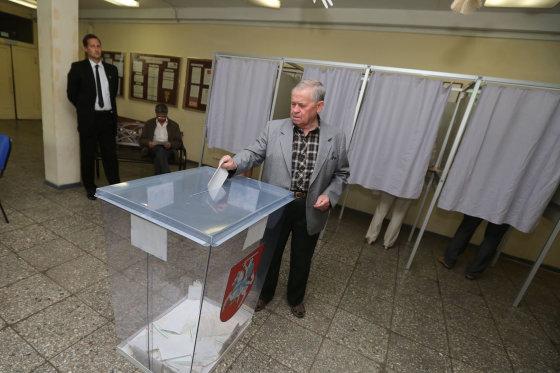 Juliaus Kalinsko/15min.lt nuotr./Balsavimo apylinkėje