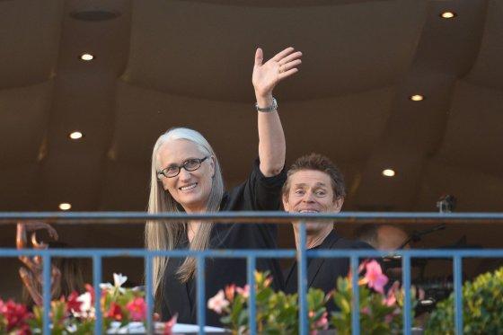 "AFP/""Scanpix"" nuotr./Jane Campion ir Willemas Dafoe"