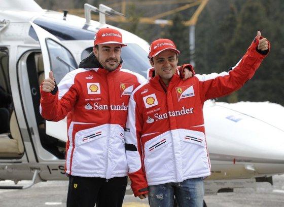 """AFP/""""Scanpix"""" nuotr./Fernando Alonso ir Felipe Massa"""