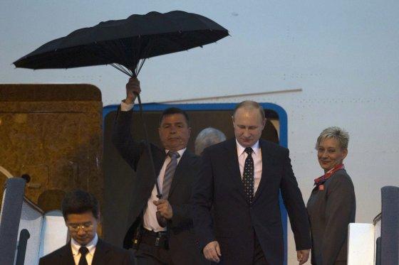 """AFP/""""Scanpix"""" nuotr./Rusijos prezidentas Vladimiras Putinas Kinijoje"""