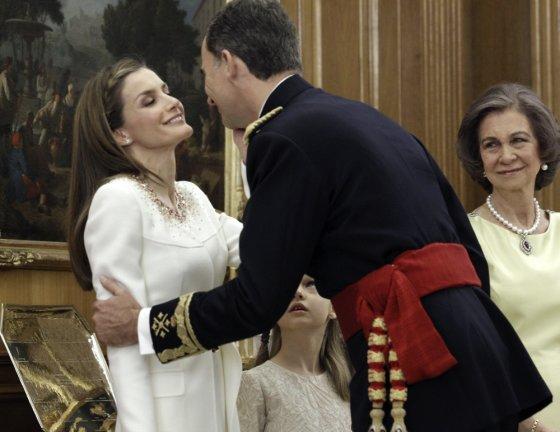 """""""Reuters""""/""""Scanpix"""" nuotr./Karalius Felipe VI su žmona Letizia"""