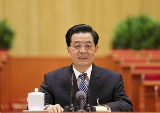 """AFP/""""Scanpix"""" nuotr./Kinijos prezidentas Hu Jintao"""