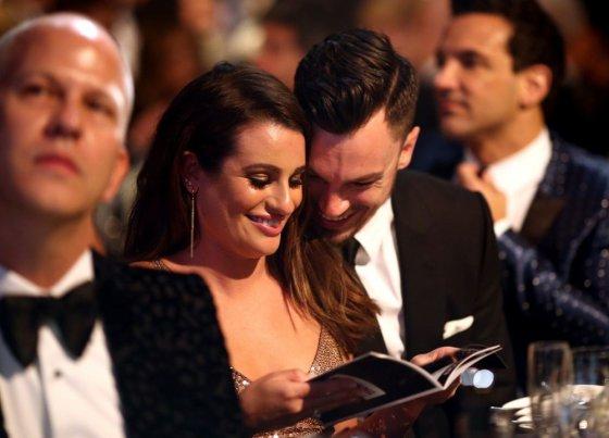 "AFP/""Scanpix"" nuotr./Lea Michele ir Matthew Paetzas"