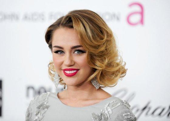 """""""Reuters""""/""""Scanpix"""" nuotr./Miley Cyrus 2012-ųjų pradžioje"""