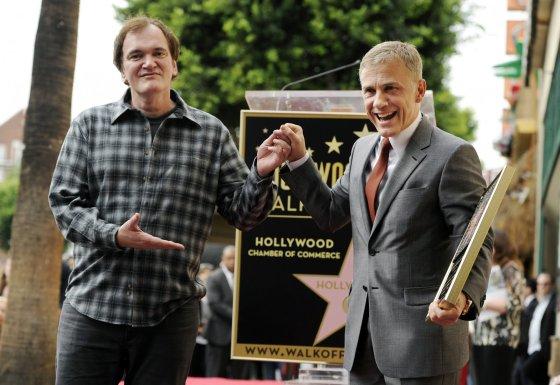 """""""Scanpix""""/AP nuotr./Quentinas Tarantino ir Christophas Waltzas"""