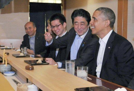 """Reuters""/""Scanpix"" nuotr./Shinzo Abe ir Barackas Obama"