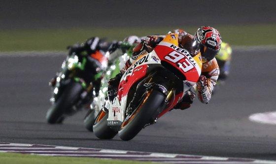 """""""Scanpix"""" nuotr./""""Moto GP"""" lenktynės Katare"""