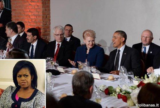 """Internautai kuria """"memus"""" apie Dalios Grybauskaitės ir Baracko Obamos santykius"""