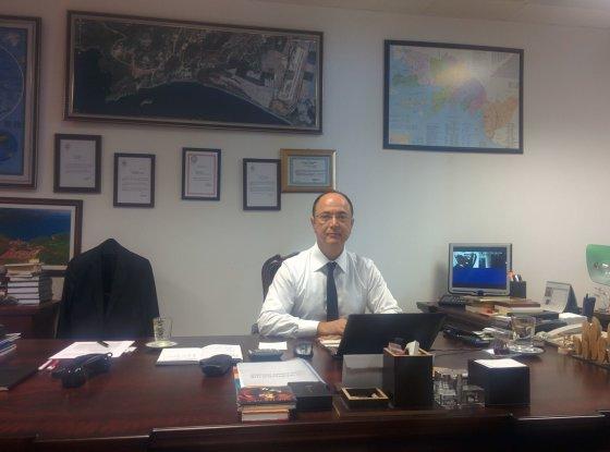 Liepos Želnienės nuotr./Dalamano oro uosto direktorius Hamdis Guvencas