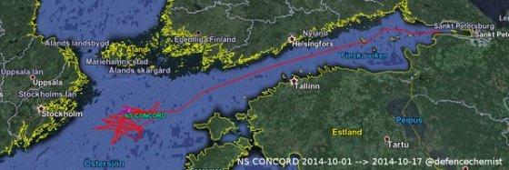 NS Concord suka ratus Baltijos jūroje