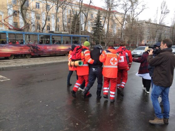 Donecke sužeistas žmogus