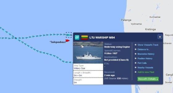 Marinetraffic.com inf./SGD terminalas plaukia į Lietuvą