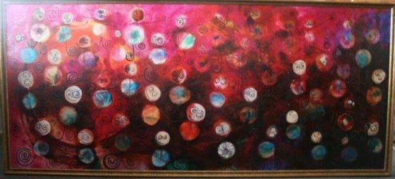 """Lino Cicėno tapybos darbas """"Balerinos, prisivalgiusios sniego"""""""