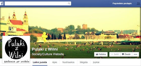 "Pulaki z Wilni socialiniame tinkle ""Facebook"""