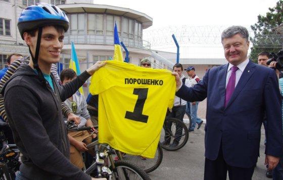 """""""Scanpix"""" nuotr./Petro Porošenka tarp savo rėmėjų"""