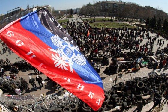 "AFP/""Scanpix"" nuotr./Separatistai Donecke"