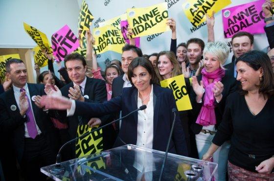 """""""Scanpix"""" nuotr./Socialistų kandidatė į Paryžiaus merus Anne Hidalgo"""