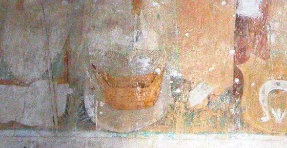Bernardinų bažnyčios freskos fragmentas