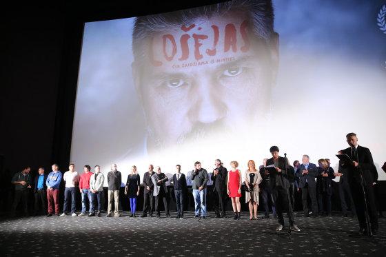 """Luko Balandžio/Žmonės.lt nuotr./Filmo """"Lošėjas"""" premjeros akimirka"""