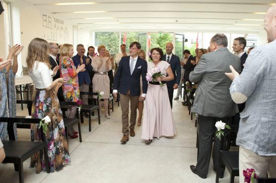 Mariaus Žičiaus/Žmonės.lt nuotr. /Vestuvių ceremonijos akimirka