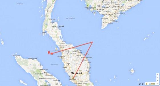 "Business Insider / ""Google Maps"" iliustr./Pradingusio lėktuvo galima trajektorija"