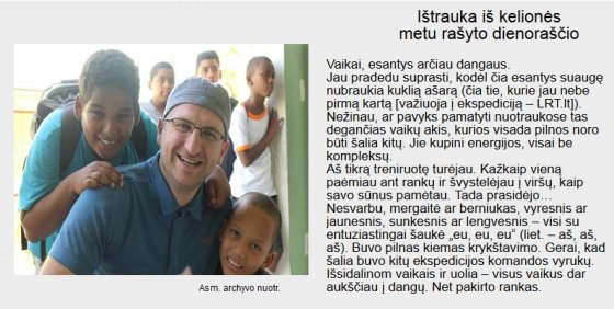 LRT iliustr./Ištrauka iš kelionės metu rašyto dienoraščio