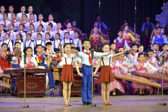 """""""Reuters""""/""""Scanpix"""" nuotr./Naujųjų metų sutikimas Šiaurės Korėjoje"""
