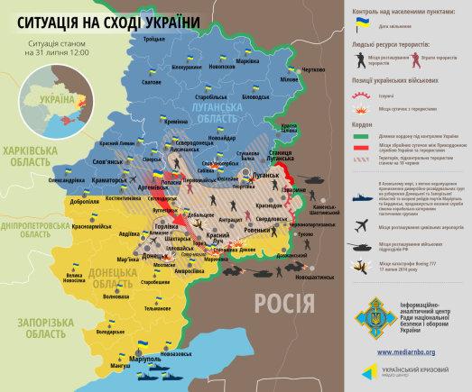 Situacija Rytų Ukrainoje (07 31)